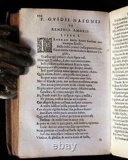 1629 Scarce Latin vellum Book OVID's Heroines, Art of Love & Remedies for Love
