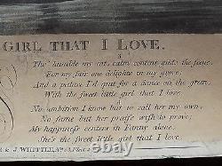 1794 Laurie Whittle Antique Print Sweet Little Girl Ballad Music Poem Fishing