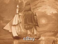 1808 The Shipwreck William Falconer EXQUISITE ART Scottish Ships MAPS Nautical