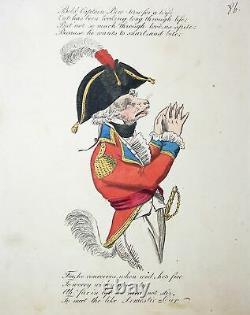 1810 William Pitt poem marriage Ehe caricature Karikatur etching Satire cartoon