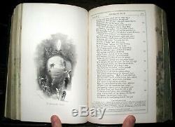 1845 FORE EDGE PAINTING Paradise Lost JOHN MILTON Fine Binding BIRKET FOSTER Art