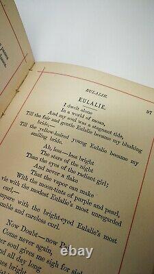 1882 book Poems of Edgar Allan Poe with Memoir gilt edging Victorian art