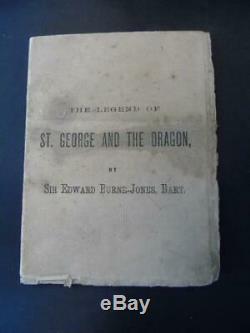 1895 Burne-jones, Legend George & Dragon, Rare Picture Exhibition Brochure Art