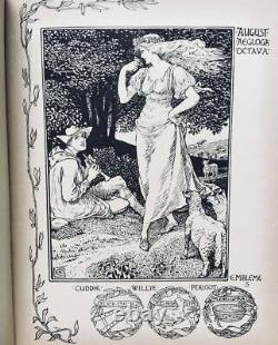 1898 Walter CraneVictorian BookShepheard's CalenderPre-RaphaeliteArt Nouveau