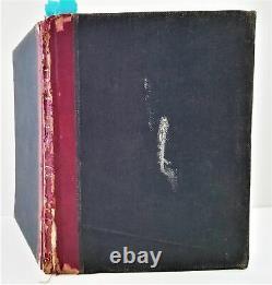 1899 antique FRAKTUR ART handwritten POETRY ALBUM Josephine MULLOY 100pg BOOK