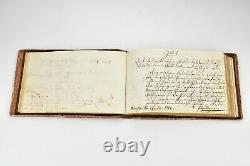 18th Century Silhouette Painting Autograph Poem Book Fine Quality dated 1782