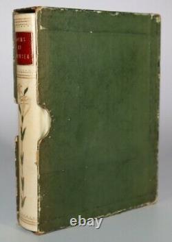 1900s The Poems of Edmund Spenser Selected Art Nouveau Quarter Vellum Binding