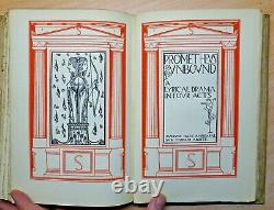 1902 Poems Percy Bysshe Shelley ILLUSTRATED Anning Bell Antique Book ARTS CRAFTS