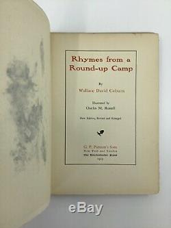 1903 Vtg Rhymes from Round-Up Camp Coburn Charles Russell Art Wild West Cowboy