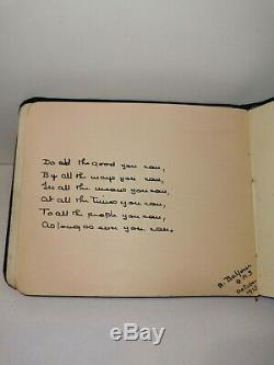1910's Sketch Autograph Book Album Art Paintings drawings poems Georgian