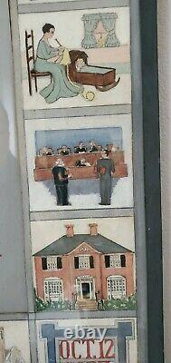 1930's HAND PAINTED FRAMED WEDDING POEM made for WEALTHY RHODE ISLAND COUPLE