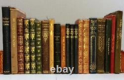 20 LEATHER BOUND BOOKS inc Dickens Nicholas Nickleby, Complete Poems Shelley etc