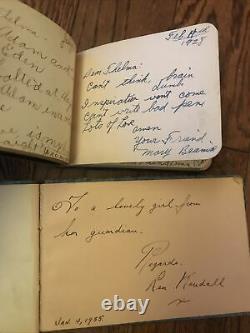 2 1920s 1930s Antique Autograph Book Poetry Folk Art