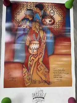 AMADO M. PENA Signed and Inscribed Poster Print Poem Festival of Arts & Crafts