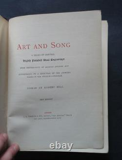 ART AND SONG edited by Robert Bell In Poems & Steel Engravings / Artists / 1867