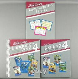 Abeka Language Arts 4 Curriculum 20 Books Teacher Key, Tests, Work-Text, Readers