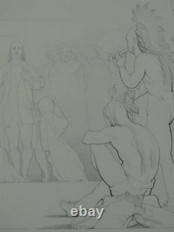 America Indians illustration poem Gertrude Wyoming Campell 10 engravings 1846