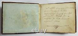 Antique 1836 HANDWRITTEN COMMONPLACE BOOK Poetry Journal NEAR MINIATURE Artwork
