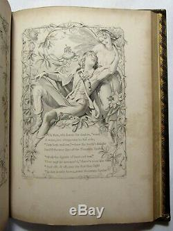 Antique 1846 MOORE'S IRISH MELODIES Engravings FINE LEATHER BINDING Maclise Art