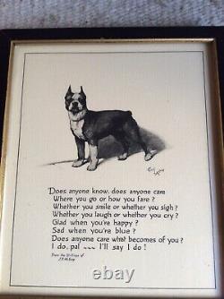 Antique J. P. McEvoy K9 Poem 1932 Cecil Aldin