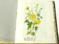 Antique Scottish Victorian c1880 Scraps Book Handwritten Poems Sketches Artwork