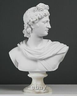Apollo Bust Sculpture Greek Roman Mythological God Poetry Statue 32cm / 12.6