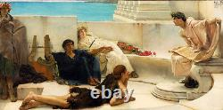 Art Oil painting Lawrence Alma-Tadema Homeric poetry readings Young men party