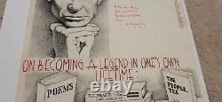 Awesome Carl Sandburg Handwritten Poem And Artwork Very Rare Detroit Cartoonist