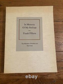 BARNETT NEWMAN lithograph 1967 IN MEMORY OF MY FEELINGS Frank O'Hara MOMA Poem