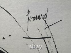 Bernard Buffet Un Scream Engraving Black And White Signed 1961 197 Hand