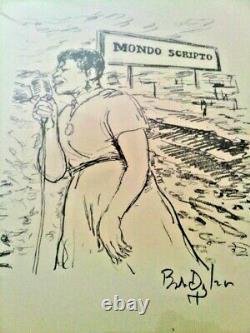 Bob Dylan Mondo Scripto Art Drawings Lyrics Poems Book Sealed Rarest