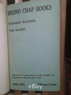 Bruno Chap Books Edited by Guido Bruno Poetry, Essays on Lit, Art 1915