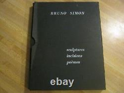 Bruno Simon/Sculptures/Incisions/Poems/Modern Art/Signed by Artist/Austrian