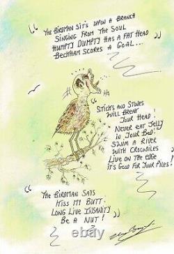 Charles Bronson Salvador Prison Original Artwork Signed Poem