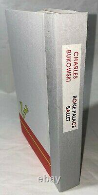 Charles Bukowski FIRST EDITION withART tipped in & LIMITED EDITION with PROMO POSTER