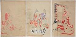 Chikanobu, Court Ladies, Poems, Kimono, Art, Original Japanese Woodblock Print
