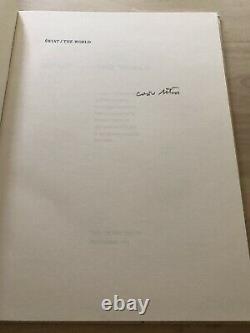 Czeslaw Milosz Swiat/World, Art Jim Dine, Arion Press, 1989 Ltd Edition, Signed
