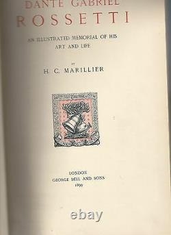 Dante Gabriel Rossetti H C Marillier An Illustrated Memorial of His Art and Life