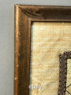 Dated 1794 ELISA FAUVER Lovely Needlework Sampler withPoem American Folk Art