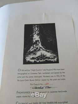 Dated 1932 Ltd. Ed. Book High Country, #130 of 1050 Rome Prints, Yore Poetry