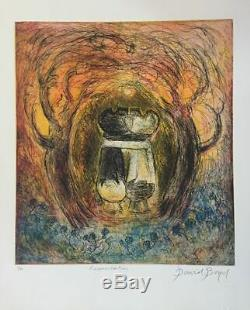 David BOYD Reconciliation (Coloured) Original Signed Etching, Modernism, Poem
