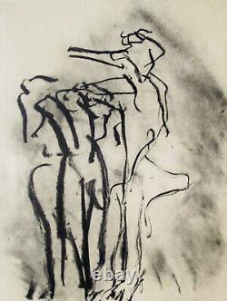 De Kooning Poem # 2 Original Lithograph 1987 Free Ship In Us