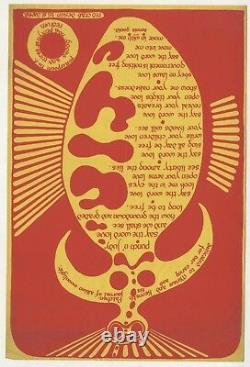 Dennis Gould Poster Poem No 5 Red Crab Design Redruth Kenneth Patchen Albion 70s