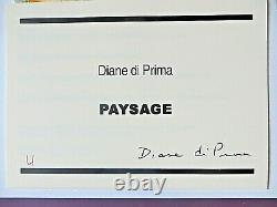 Diane di Prima SIGNED PAYSAGE 1/26 WITH HER ORIGINAL ART, BEAT GENERATION