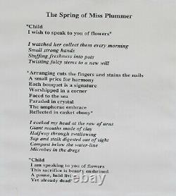 Duncan Regehr Original Ink Drawing Miss Plummer and Poem