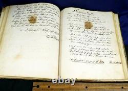 Early 1800s Handwritten Poem Book Calligraphy Folk Art Family Records Newspaper