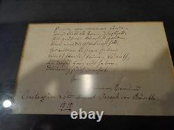 Early 19th. C Antique 1815 Watercolor Figure & Poem Verse on Paper, Signed