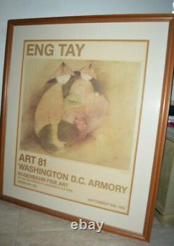 EnG Tay Signed stunning large print art A Poem In Emerald 1978