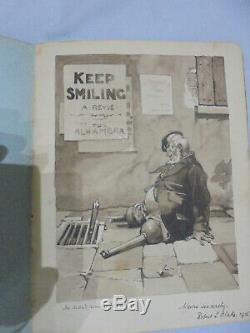 Exceptional WW1 Autograph album. Drawings, artwork and poems by wounded soldiers