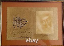 Exquisite Rare Art Signed Salvador Dali's Friend Consuelo Cloos Poem Lithograph